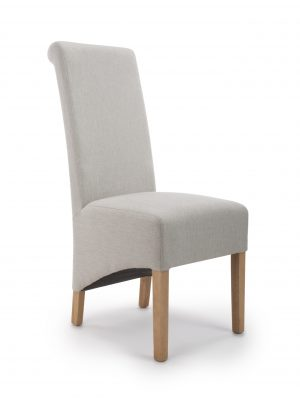 Krista Herringbone Cappuccino Fabric Dining Chair