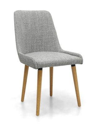 Capri Grey Weave Fabric Modern Dining Chair