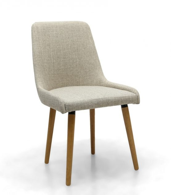 capri natural fabric dining chair