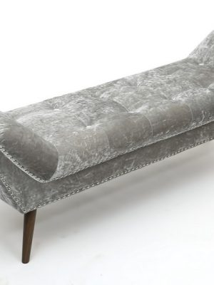 Montrose Silver Crushed Velvet Large Chaise longue