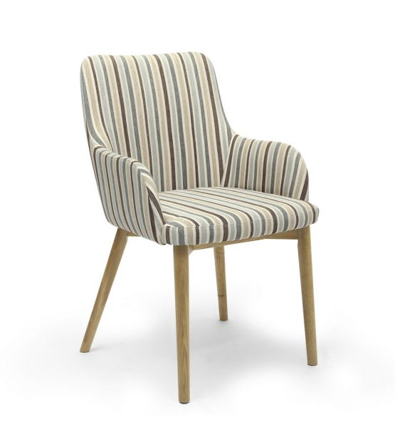 sidcup blue stripe dining chair