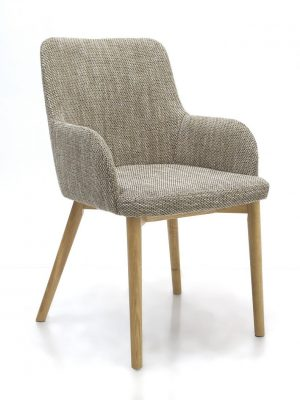 Sidcup Tweed Fabric Modern Dining Chairs