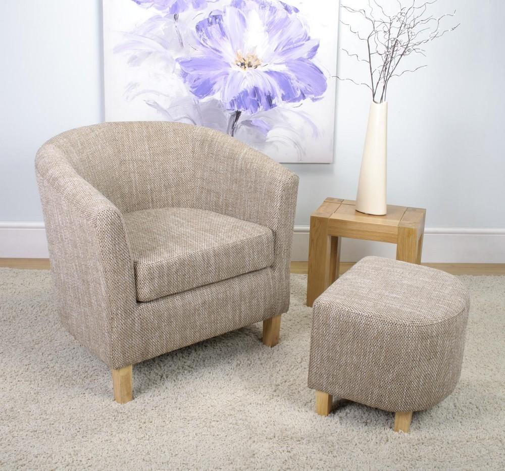 tweed tub chair