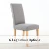 Bella Silver Grey Fabric dining chair