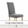 Bella Steel Grey fabric dining chair