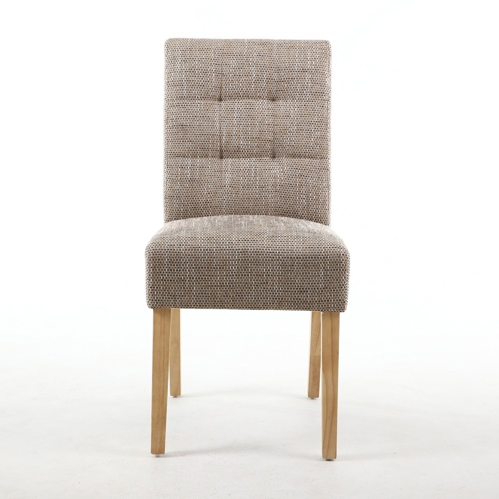 Abby Tweed Weave Fabric Dining Chair