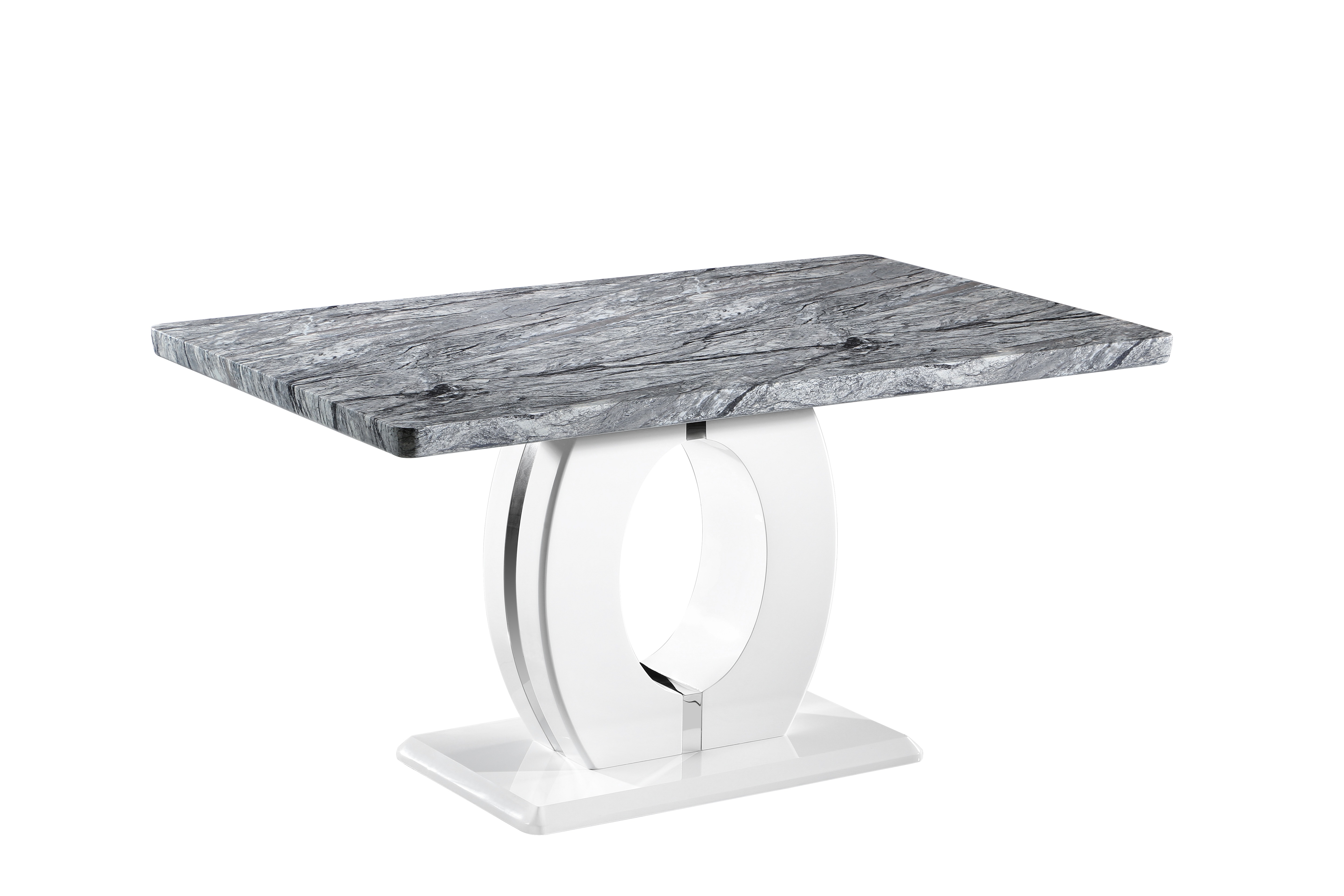 Athena Marble and White high gloss table