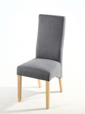 Buxton Steel Grey Fabric Dining Chair