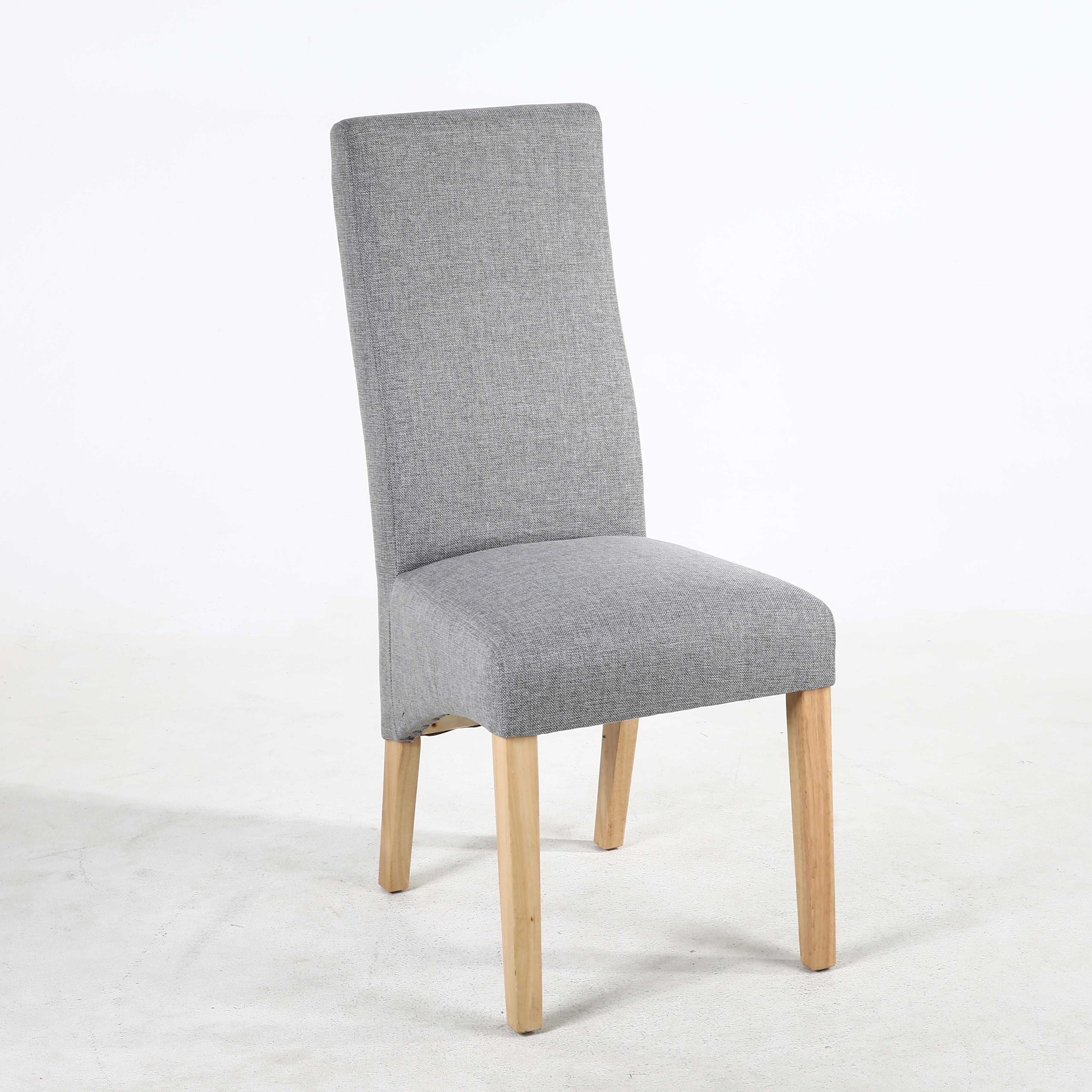 Buxton Silver Grey Fabric Dining Chair Baxter Grey