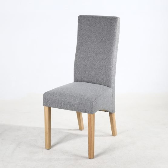 Buxton Silver Grey Fabric Dining chair