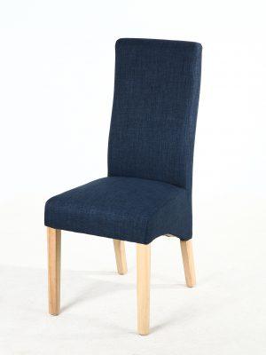 Buxton Royal Blue Fabric Dining Chair