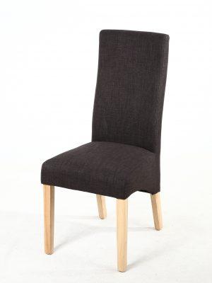 Buxton Dark Grey Fabric Dining Chair