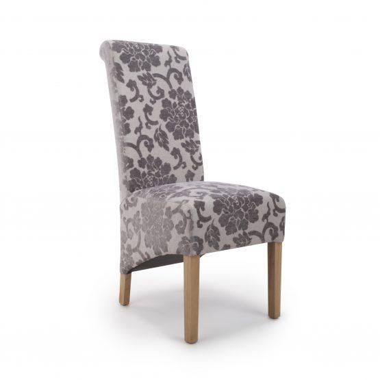 Krista Baroque Mink velvet dining chair