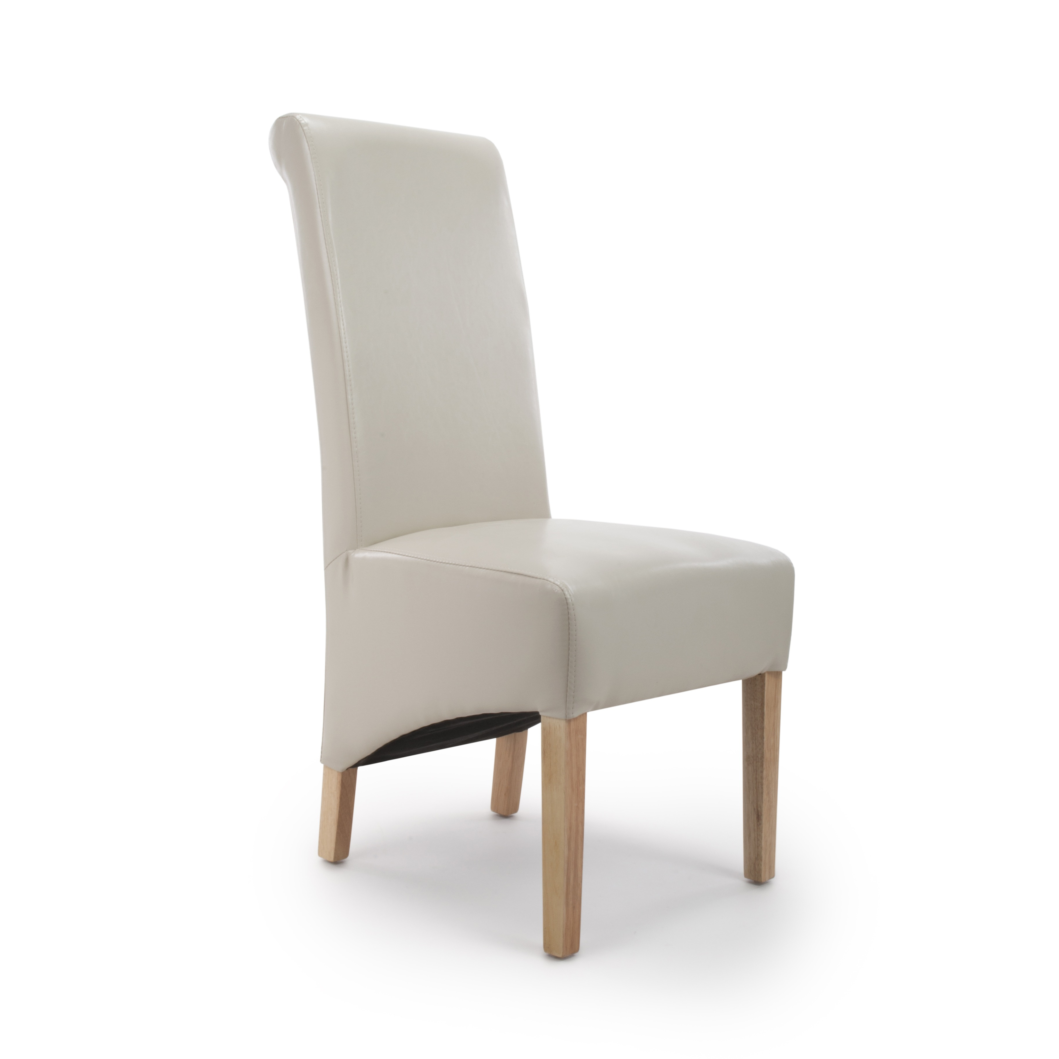 Krista Ivory Leather Dining chair