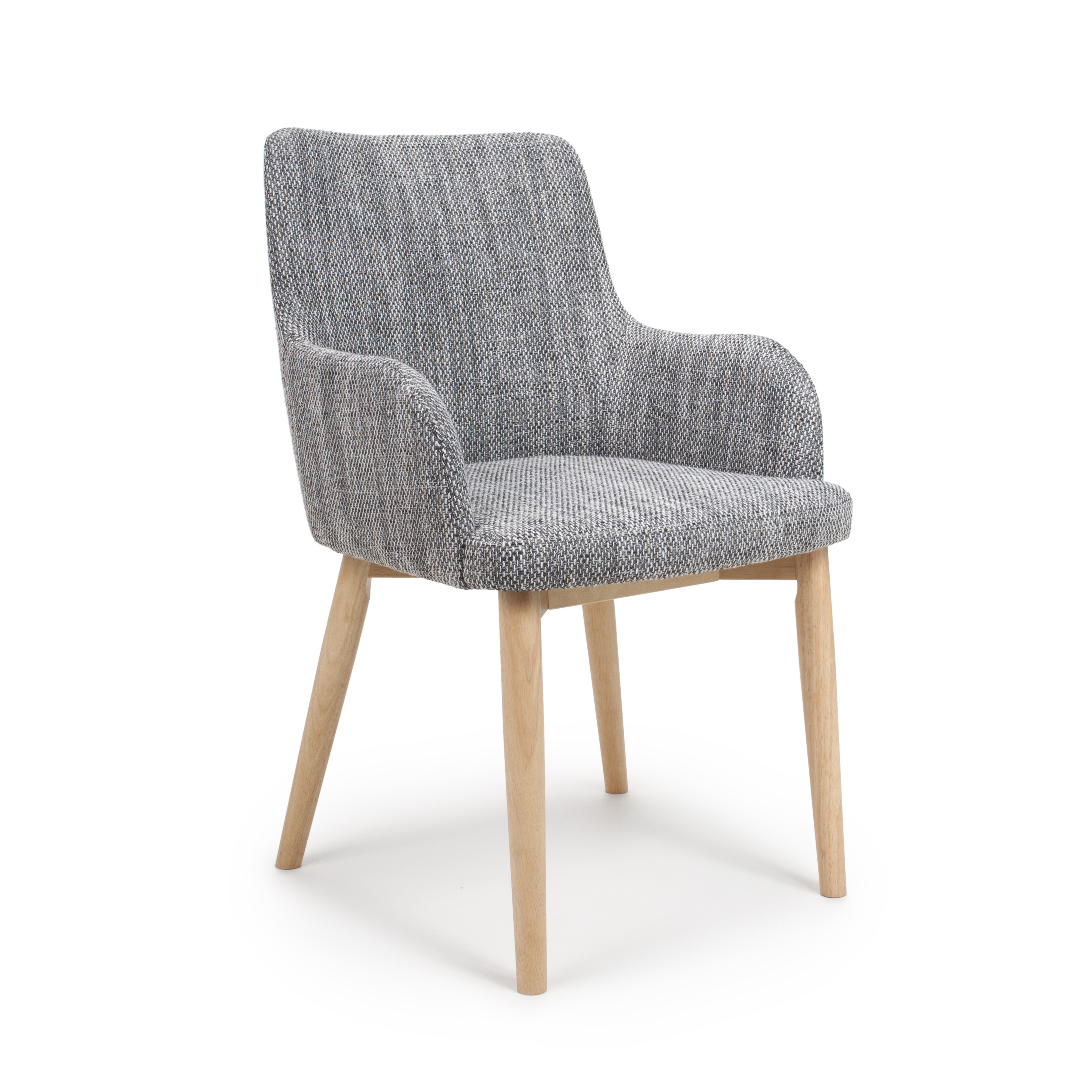 sidcup grey tweed fabric modern dining chairs grey. Black Bedroom Furniture Sets. Home Design Ideas
