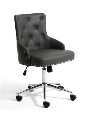 Brent Dark Grey Faux Leather Office Chair
