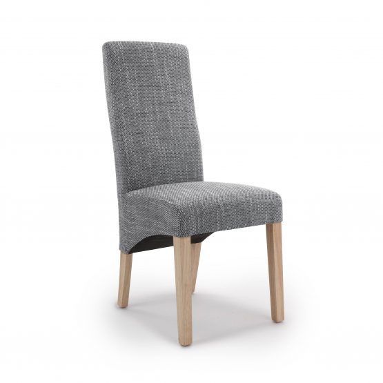 Buxton Grey Weave fabric dining chair