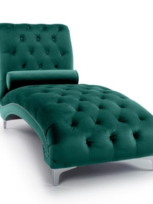 Clifton Green Brushed Velvet Buttoned Chaise