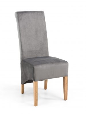 Krista Grey Brushed Velvet Dining Chairs