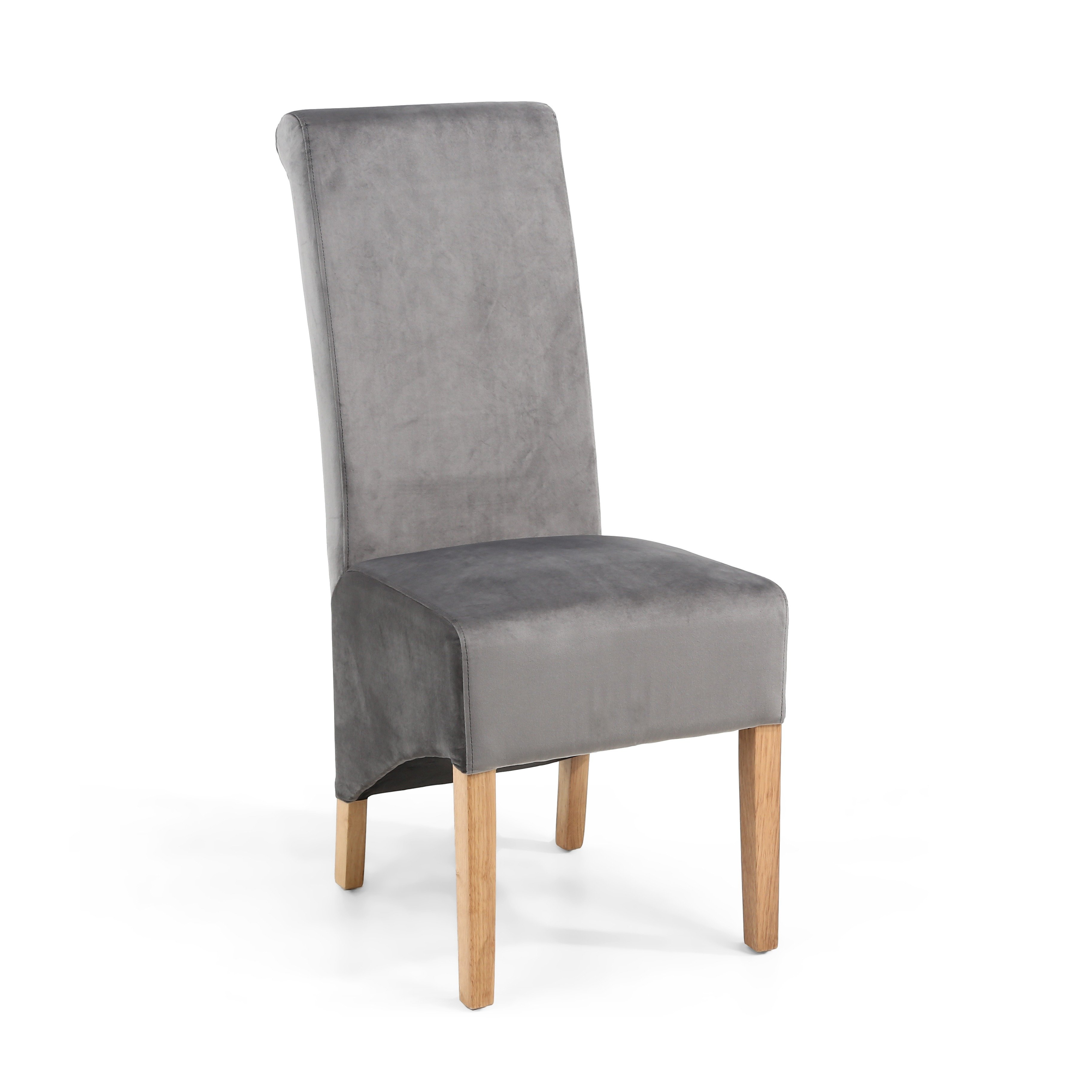 Grey Brushed Velvet Dining Chair
