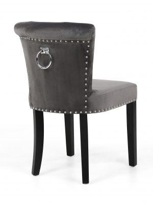 Sandringham Brushed Grey Velvet Dining Chair & Knocker Handle