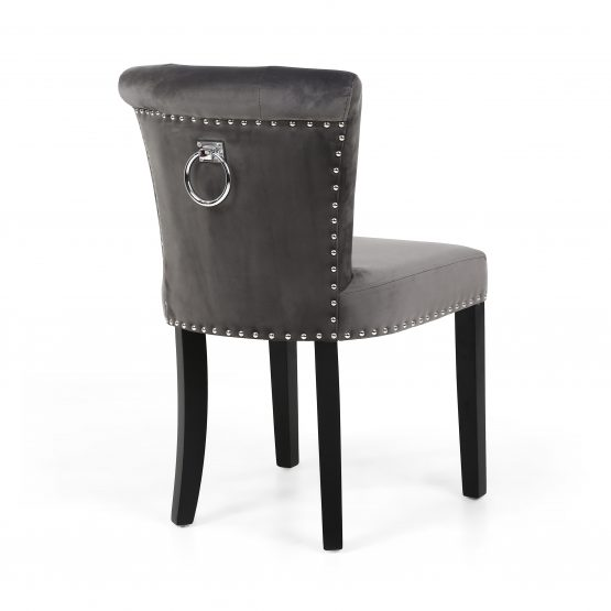 sandringham brushed grey velvet dining chair