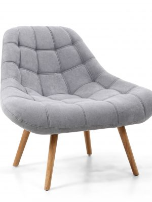 Alison Light Grey Chenille Retro Armchair