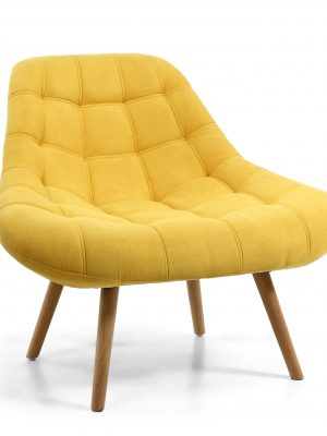 Alison Yellow Chenille Retro Armchair