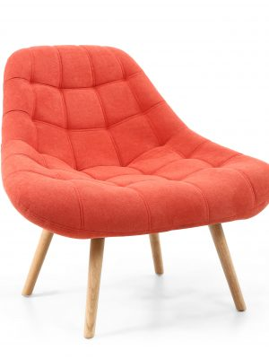 Alison Orange Chenille Retro Armchair
