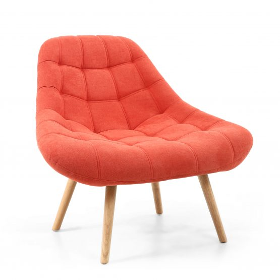 Alison Orange Retro Armchair