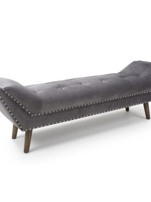 Montrose Grey Brushed Velvet Large Chaise longue