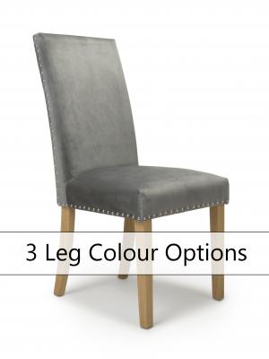 Bella Grey Brushed Velvet Dining Chair
