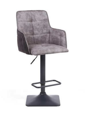 Orion Light Grey Suede Effect Bar Stool