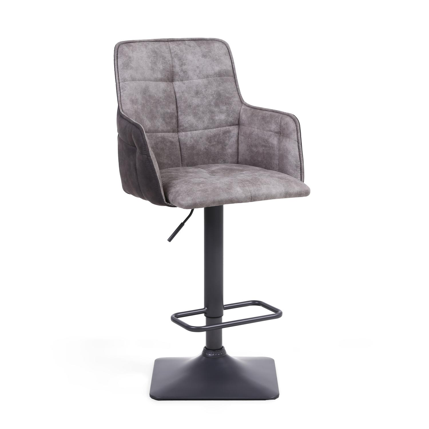 Orion Light Grey Suede bar stool