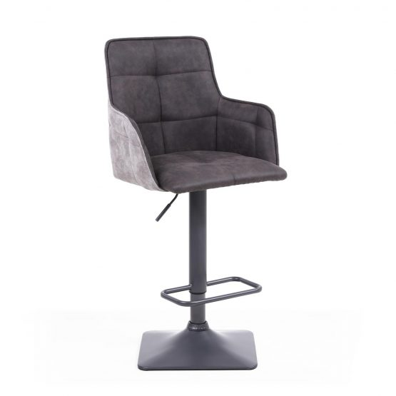 Orion Dark Grey Suede bar stool