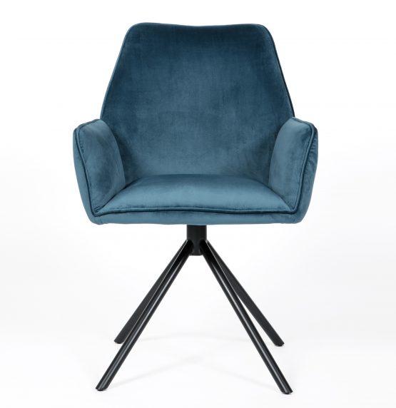 Uno Blue Velvet Carver dining chair
