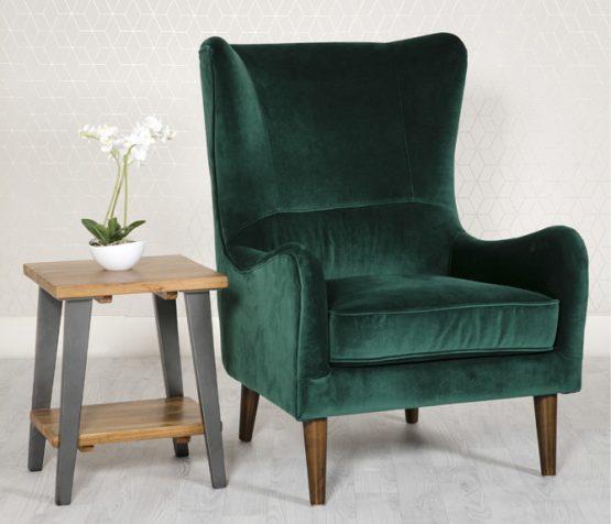 Freya Green Velvet Armchair
