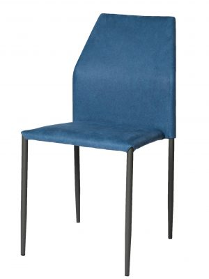 Milo Night Blue Modern Stacking Chair