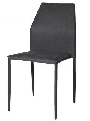 Milo Lunar Grey Modern Stacking Chair