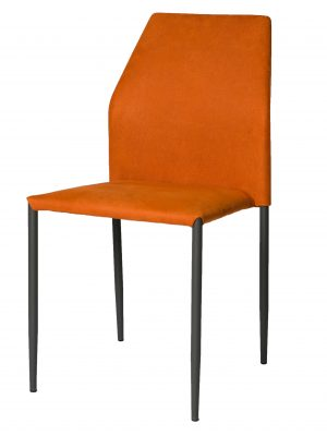Milo Tiger Orange Modern Stacking Chair