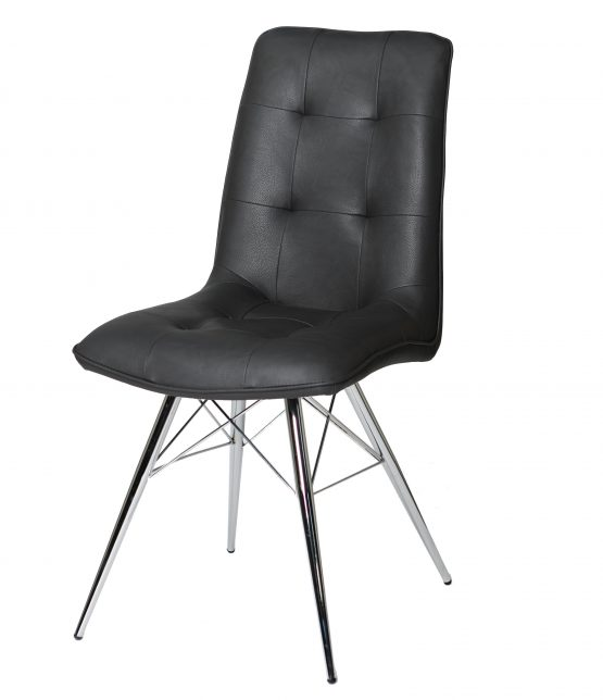 Tampa Eames Grey Leather dining chair