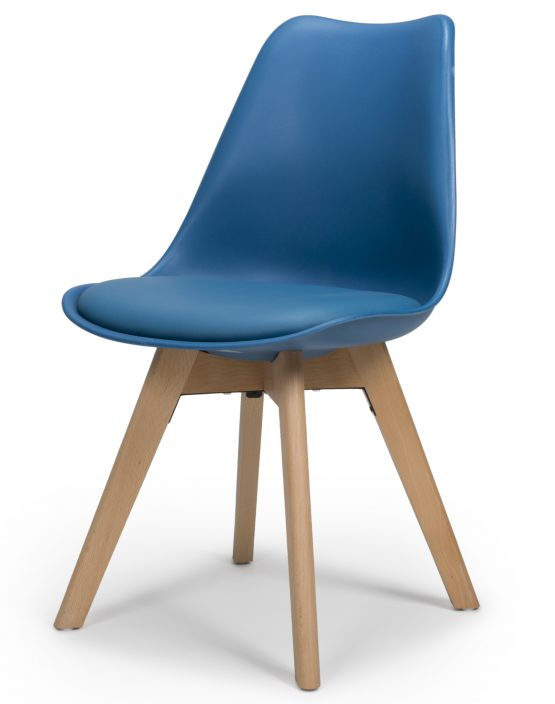 Urban Blue molded dining chair