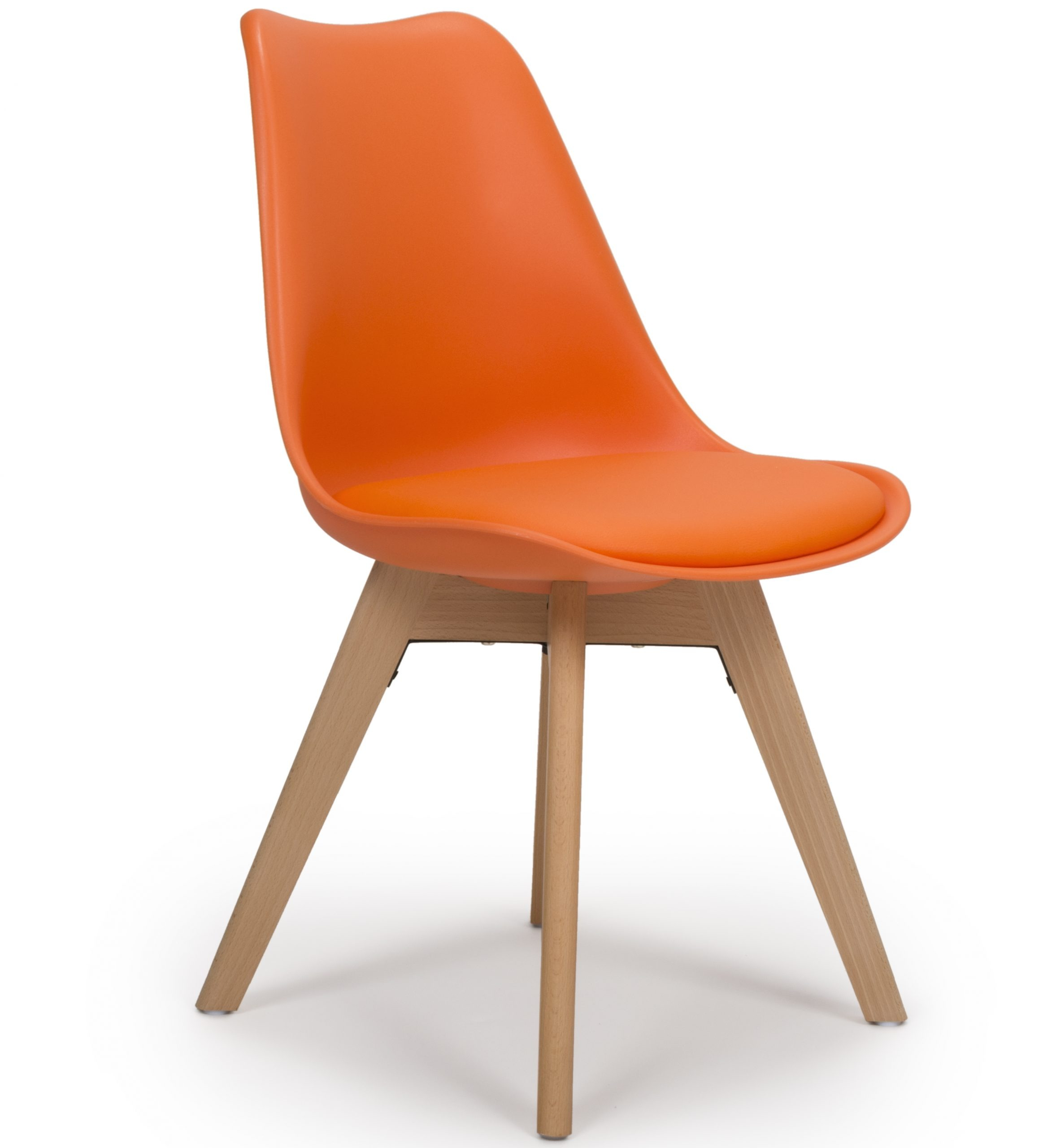 Urban Orange molded plastic dining chair