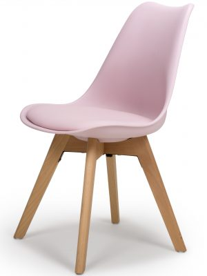 Urban Pink Molded Dining Chair with Beech Legs