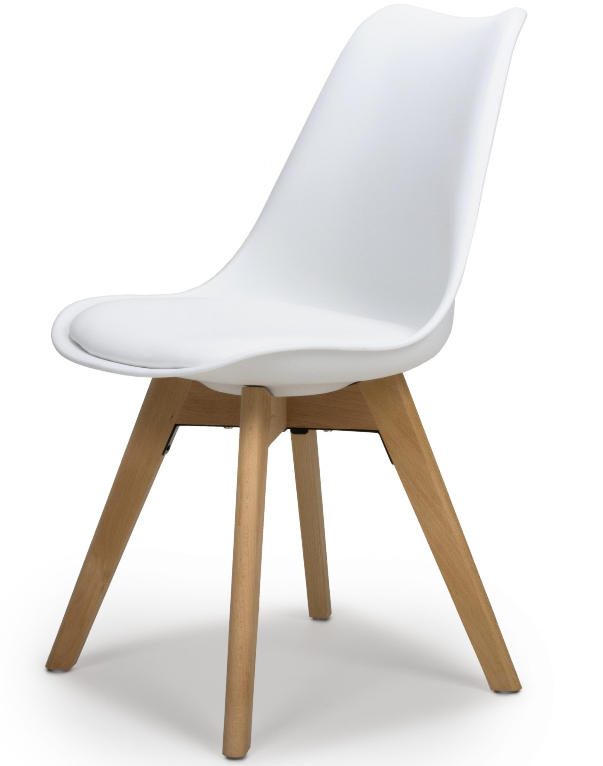 Urban White Molded plastic dining chair