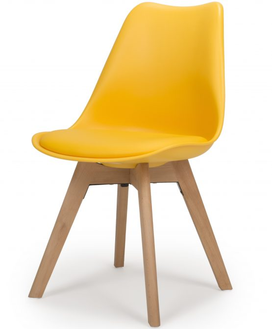 Urban Yellow molded Plastic Dining chair