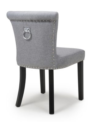 Sandringham Silver Grey Linen Dining Chair & Knocker Handle