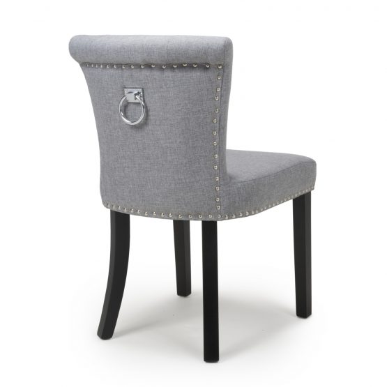 Sandringham Silver Grey Linen Dining Chair