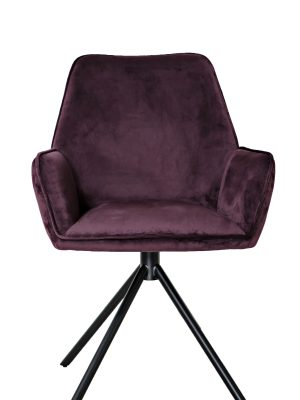 Uno Mulberry Purple Velvet Contemporary Carver Chair