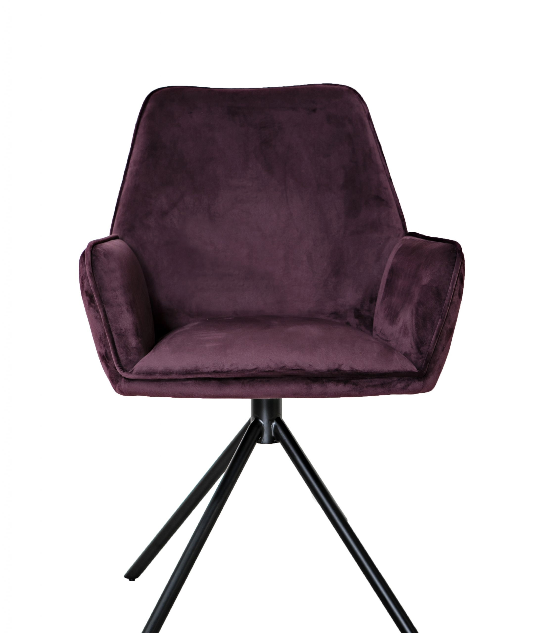 Uno Mulberry Purple velvet carver dining chair